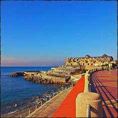 Corso Italia em Genova, Liguria. Corso Italia, the famous sea promenade of the city,