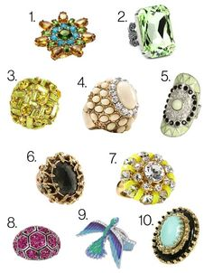 These cocktail rings are so flashy, nobody will notice you're wearing the same LBD again. Shop 'em on Glamour.com.