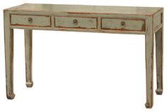 Console Table 3 Drawer - asian - side tables and accent tables - by Masins Furniture