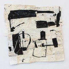 Sati Zech Black no. 5, 2013, mixed media, paper, 136 x 136 cm (53.4 x 53.4 inches)