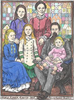 Laura Ingalls Wilder Coloring Book:  The Ingalls Family