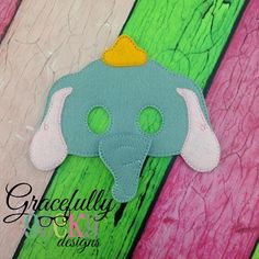 Baby Elephant Mask Embroidery Design - 5x7 Hoop or Larger