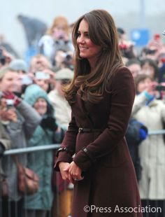 The Duchess of Cambridge arrives outside the National Fishing Heritage Centre, Grimsby 5 mar 2013