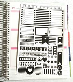 black and white planner stickers - Pesquisa Google