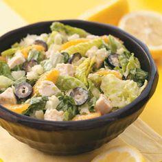 Caribbean Chicken Ceasar Salad-est. 30 min prep, 298 calories in a 2 cup serving