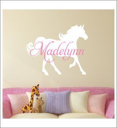 Personalized Horse Decal Wall Decal Horse by CustomVinylbyBridge