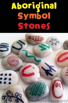 These Aboriginal Symbol Stones can be used in many ways for our boys to find out about the history of the the Aboriginal people. Aboriginal Art For Kids, Aboriginal Symbols, Aboriginal Dreamtime, Aboriginal Education, Indigenous Education, Aboriginal Culture, Aboriginal People, Indigenous Art, Aboriginal History