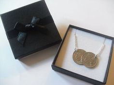 LUCKY SIXPENCE NECKLACE, pendant, HOLLY WILLOUGHBY style, gift, CHOOSE DATES