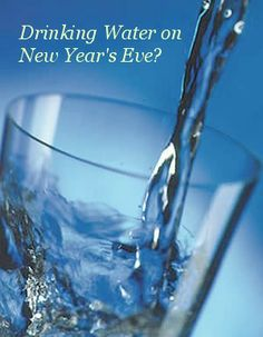 Drinking Water is a good idea on New Year's Eve, as a New Year's resolution or any time. Get clean, bio-active water at http://GoLiveGreenLife.com/shungit