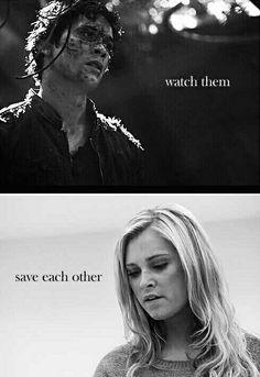 Watch them save each other. #Bellarke