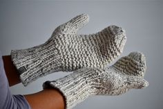 The Everyday Cashmere Mittens  Merino Silk Cashmere by purlBknit
