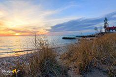 Point Betsie sunset