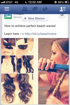 Beach waves with flat iron! Super easy & quick