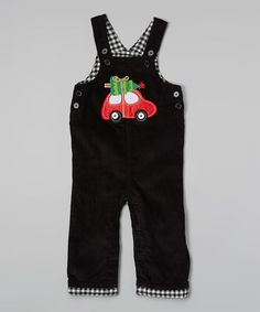 Loving this Black Tree Car Overalls - Infant & Toddler on #zulily! #zulilyfinds