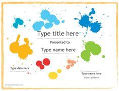Blank Certificate - Art Award Certificate throughout Art Certificate Template Free Preschool Certificates, Printable Certificates, Award Certificates, Art Certificate, Free Certificate Templates, Templates Free, Design Templates, Paintball Party, Art Classroom Management
