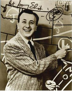 """Sonnie says, """"Spring is in the air!"""" Sonnie Eliot was the Detroit go-to guy for TV weather in the 1950s and beyond."""