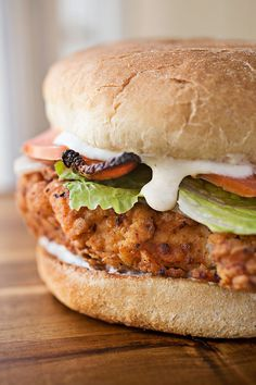 Spicy & Crispy Chicken Caesar Club Sandwich