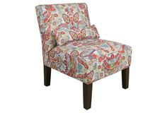 Bergman Chair, Red Damask
