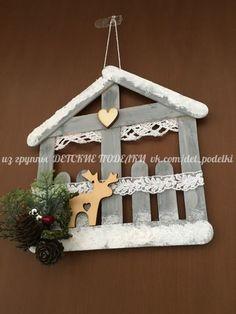 Może to zrobię na kiermasz xD ale wgl to fajne ! Wooden Christmas Decorations, Christmas Ornament Crafts, Christmas Crafts For Kids, Rustic Christmas, Christmas Projects, Simple Christmas, Kids Christmas, Holiday Crafts, Elegant Christmas