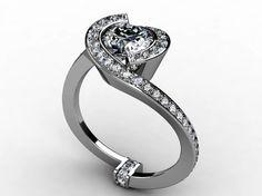 Custom Made White Gold Diamond Ring