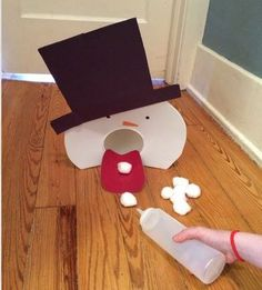 Pinterest Pin of the Week: Snowman Snowball Game - pinned by @PediaStaff – Please Visit ht.ly/63sNt for all our pediatric therapy pins