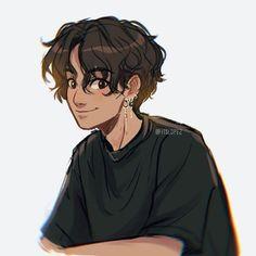Art Drawings Sketches, Cartoon Drawings, Cute Drawings, Cartoon Illustrations, Cute Art Styles, Cartoon Art Styles, Cartoon Design, Cute Boy Drawing, Boy Hair Drawing