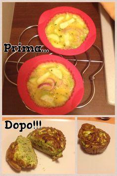 Frittatine con zucchine e cipolla al forno!