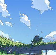 Overgrown by Varguy on DeviantArt Environment Concept Art, Environment Design, Art And Illustration, Fantasy Landscape, Landscape Art, Fantasy Kunst, Fantasy Art, Arte Peculiar, Arte Indie