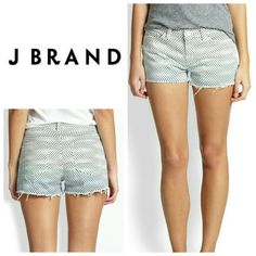 J Brand Low-Rise Cutoff Shorts J Brand Low- Rise Cutoff Shorts in ombre dot. SOLD OUT everywhere! Ladies, these are not only light weight but also comfortable, perfect for summer! These cut off shorts have an engineered ombre dot and trendy frayed hem.   No trade, discount with bundle! Accepting reasonable offers made through the offer button! J Brand Jeans