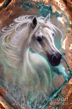 Copper Grace - Horse Painting  Sandi Baker