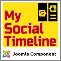 An unique Joomla Component which show latest updates from all major social networks in Facebook like timeline fashion (and other layout and styles). Whichever is your social network of choice, now you can feature their updates as you like within your Joomla! A must have Component.