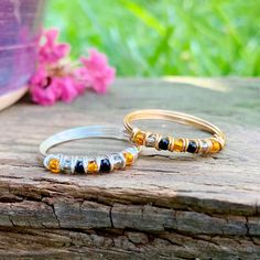 Beaded Rings, Beaded Bracelets, Sea Glass Ring, Handmade Rings, Moonstone Ring, Boho Rings, Pearl Ring, Beautiful Rings, Seed Beads
