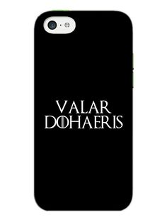 Game Of Thrones - Valar Dohaeris - Typography - Designer Mobile Phone Case Cover for Apple iPhone 5