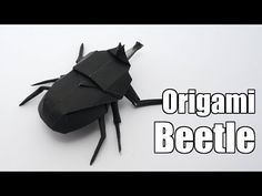 Origami Beetle (Jo Nakashima) - YouTube  got to the last five minutes, but inferior paper let me down :(