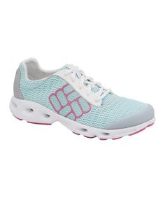 Take a look at this Turquoise & Purple Drainmaker Running Shoe - Women by Columbia on #zulily today!