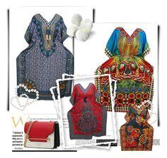 Boho Kimono Caftan Abaya Dress by boho-chic-2 on Polyvore