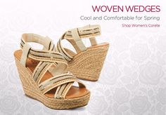Woven Wedges - Cool and comfortable for Spring - Shop women's Corelle.