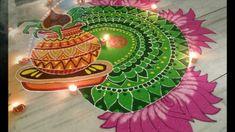 Kolam and Rangoli designs Rangoli Designs Latest, Simple Rangoli Designs Images, Small Rangoli Design, Colorful Rangoli Designs, Rangoli Designs Diwali, Diwali Rangoli, Beautiful Rangoli Designs, Kolam Designs, Easy Rangoli