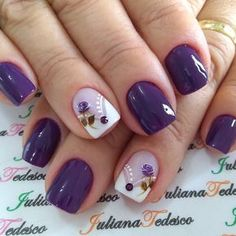 35 best summer nail art designs you must try 00072 Nail Art Designs, Purple Nail Designs, Nail Polish Designs, Spring Nail Art, Spring Nails, Summer Nails, Gel Nagel Design, Nagellack Trends, Purple Nails
