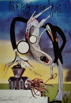Pink Floyd vintage, done in a style similar to the great and wonderful Ralph Steadman.