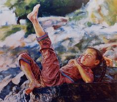 ARTIST WAI MING - Asian Oriental Chinese Fine Art Artwork Paintings Catalog (title: My Toes)