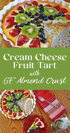 Sweetened only with enough honey to enhance the fresh fruit. This tart isn't so sweet you'll regret eating it before lunch, yet also makes a light, refreshing dessert. A gluten-free recipe just right for brunch, dessert, or afternoon tea. A favorite for bridal showers, baby showers, Easter, and special occasions.