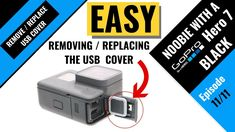 GoPro Hero easy way to remove and replace the charging side door USB port cover. Gopro Hero 5, Side Door, Science And Technology, Usb Flash Drive, How To Remove, Doors, Cover, Easy, Puertas