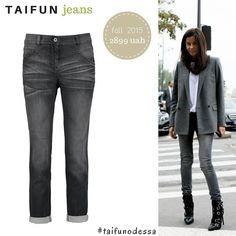 TAIFUN fashion greay jeans