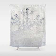 #white #christmas #winter  #snow  #snowing #snowflakes #holidays #frozen #freeze #showercurtain #bathroom available in different #homedecor products. Check more at society6.com/julianarw