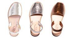 Sandales femme métal Minorquines