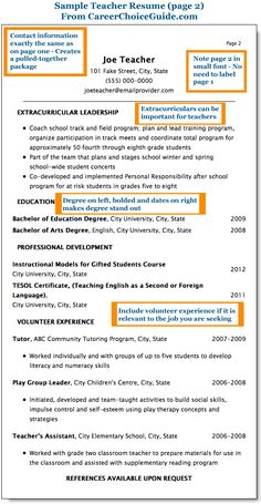 sample teacher resume for elementary school with formatting tips