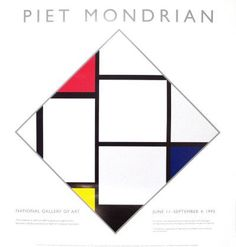Piet Mondrian National Gallery X Serigraph 1995 Modernism Multicolor, White Piet Mondrian, Mondrian Dress, Dutch Painters, National Gallery Of Art, Abstract Styles, Famous Artists, Art And Architecture, Art Lessons, Modern Art