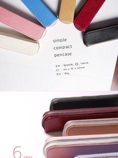 Faux-Leather Zip Pencil Case