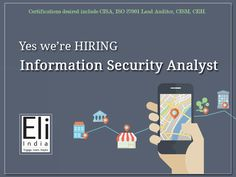 Information Security Analyst Jobs in Faridabad Delhi - Eli India. Do you have 3-8 years of experience in IT infrastructure related domains, viz, LAN, WAN, Applications, Networking and Operating Systems. We need you to join us as Information Security Analyst!